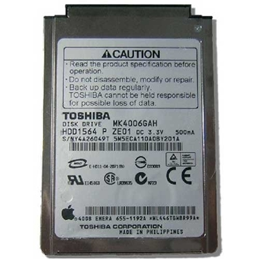 "Picture of Toshiba MK4006GAH 40GB UDMA/100 4200RPM 2MB 1.8"" Mini Hard Drive"