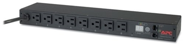 Picture of APC Rack Mount PDU, Metered 120V/15A, (8) Outlets, 1U Horizontal Rackmount (AP7800)