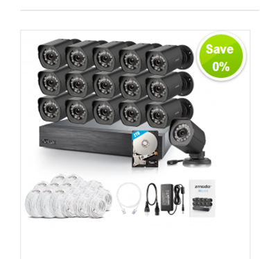 Picture of 16CH NVR with 16 Outdoor Cameras with 2TB HDD